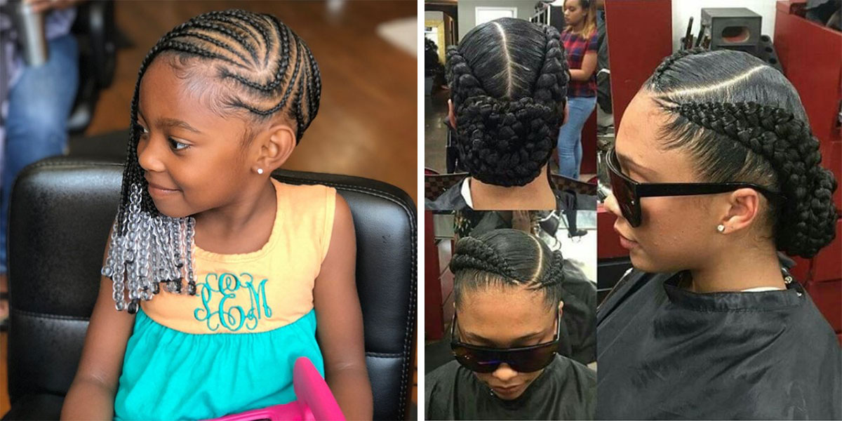 French Braids for Natural Black
