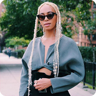 Solange Knowles Blonde Braids