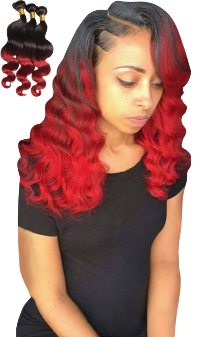 Red Ombre Hair Extension