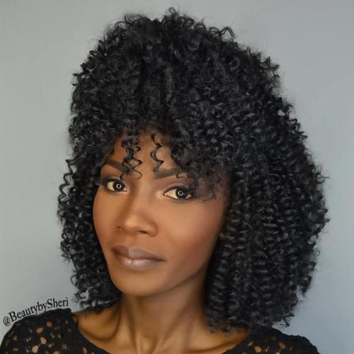 Curly bob crochet hair style