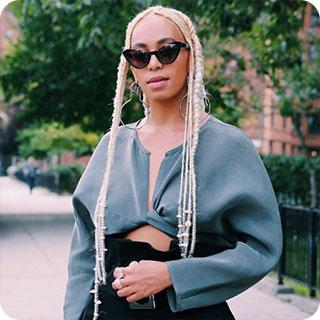 Solange Knowles Blonde Braids