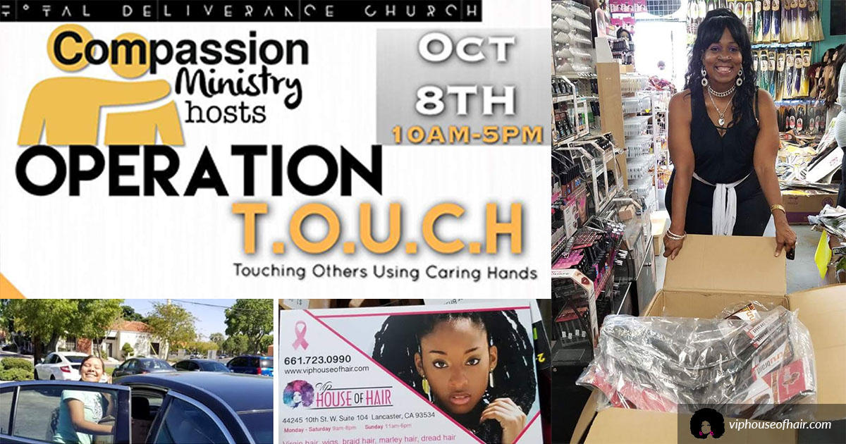 VIP House Of Hair Donates Dozens Of Braiding Hair Options To Operation Touch!