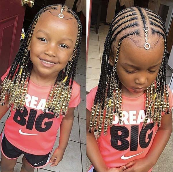 Kids Beaded Braids