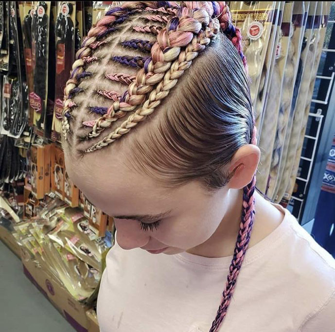 White Girl with Braids