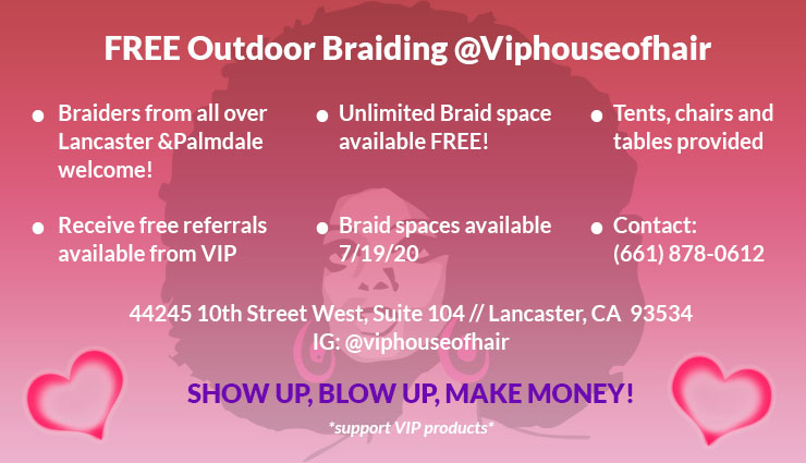 FREE Outdoor Braid Booth