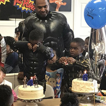 Chadwick Boseman Black Panther Birthday Party