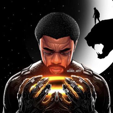 Chadwick Boseman Black Panther Painting