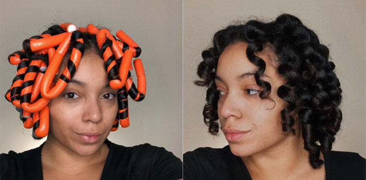 Relaxed Hair To Natural Hair with VIP Flexi Rods