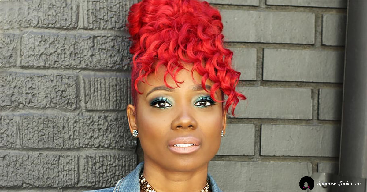 Red Burgundy Fire Hair Color: VIP Hair Color of The Month